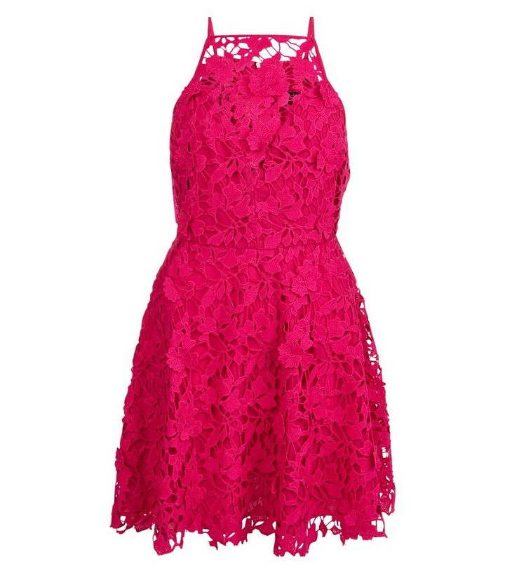 5332c21afb ... Pink Premium 3D Lace Strappy Skater Dress. ×. ×. ×. Shop the look