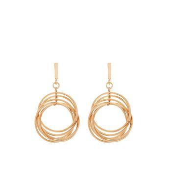 Gold Layered Hoop Earrings New Look