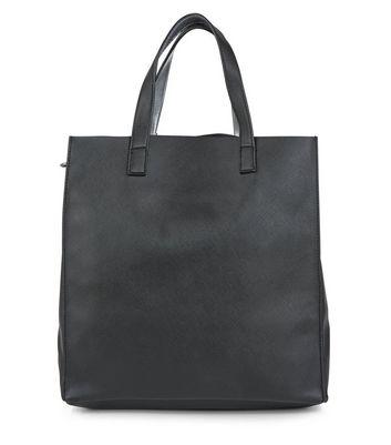 Black Metallic Trim Tote Bag New Look