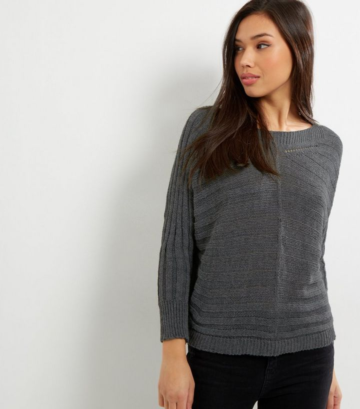 66eeb67df0 Loving This Grey Ribbed Batwing Jumper