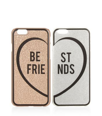 2 Pack Bronze and Silver iPhone 6 Case New Look