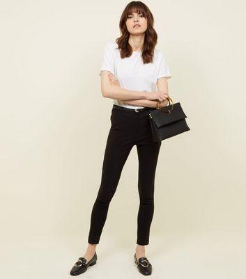 Black Slim Leg Bengaline Trousers New Look