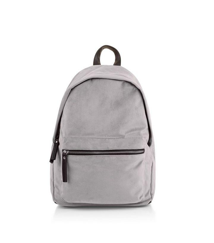 e1847a5339 Grey Velvet Backpack