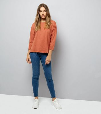 Light Brown 3/4 Sleeve Top New Look