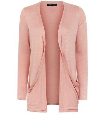 Pink Double Pocket Boyfriend Cardigan New Look