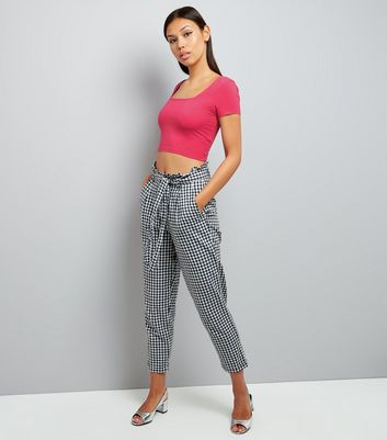 Bright Pink Square Neck Crop Top New Look