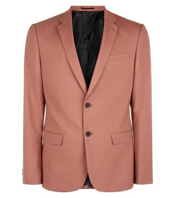 Deep Pink Suit Jacket New Look