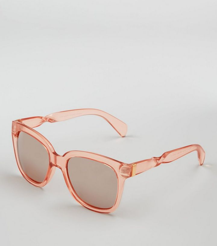 Clear Frame Mirrored Sunglasses | New Look