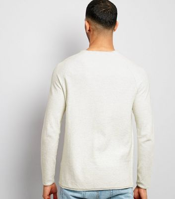 Stone Raw Hem Jumper New Look