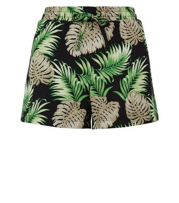Noisy May Green Tropical Print Shorts New Look