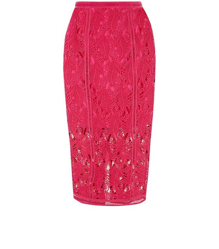 355b44f12f ... Bright Pink Lace Midi Pencil Skirt. ×. ×. ×. Shop the look