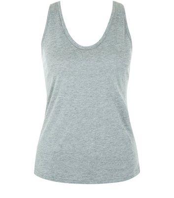 Mid Grey Scoop Neck Vest New Look