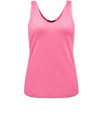 Pink Scoop Neck Vest New Look