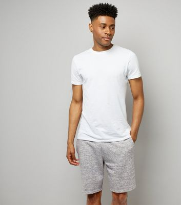Grey Marl Jersey Shorts New Look