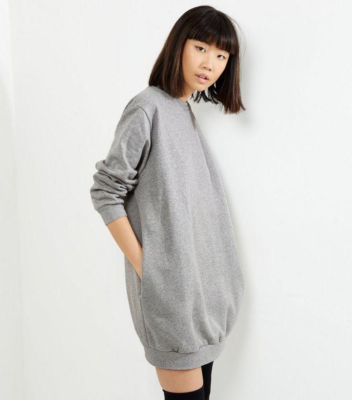 6cca4e08d187c Influence Pale Grey Oversized Jumper Dress | New Look