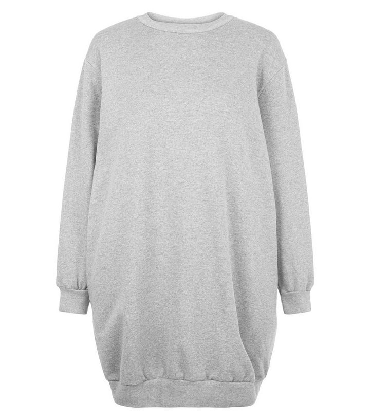 timeless design largest selection of cheap prices Influence Pale Grey Oversized Jumper Dress Add to Saved Items Remove from  Saved Items