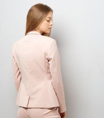 Mid Pink Premium Suit Jacket New Look