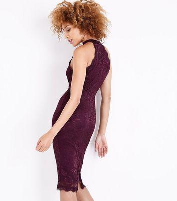 AX Paris Plum Lace Dress New Look