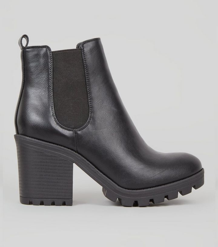 af0dd205332 Black Chunky Heel Chelsea Boots Add to Saved Items Remove from Saved Items