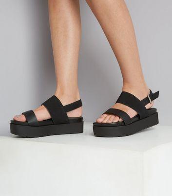 wide fit flatform sandals