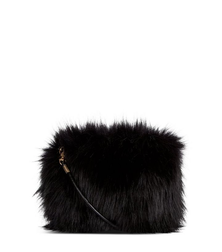 Black Faux Fur Cross Body Bag Add To Saved Items Remove From