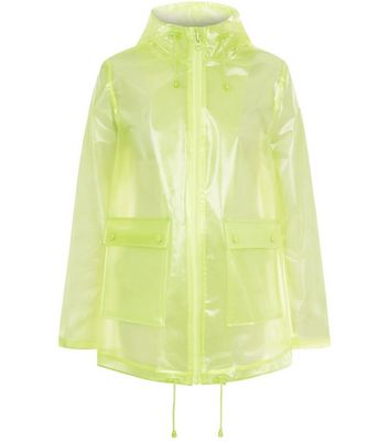 Yellow Glitter Anorak New Look