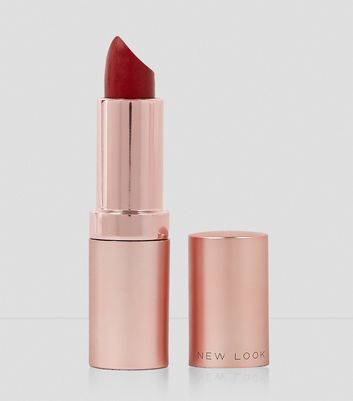 Crimson Red Matte Lipstick New Look