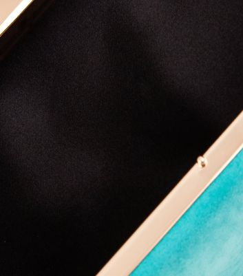 Turquoise Blue Box Clutch New Look