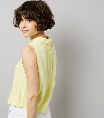 Yellow Sleeveless Shirt New Look