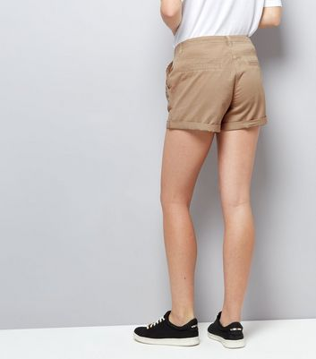 Stone Chino Shorts New Look