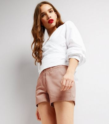 Pink Chino Shorts New Look