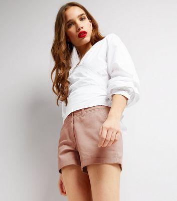 Pink Chino Shorts New Look