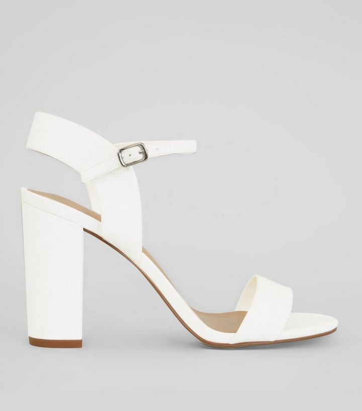 34a617b0fe8 White Ankle Strap Heels Add to Saved Items Remove from Saved Items