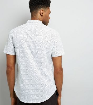 White Spot Print Short Sleeve Shirt New Look