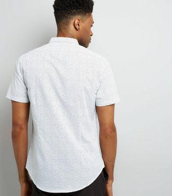 White Spot Print Short Sleeve Shirt New Look