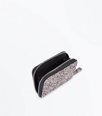 Pewter Glitter Cardholder New Look