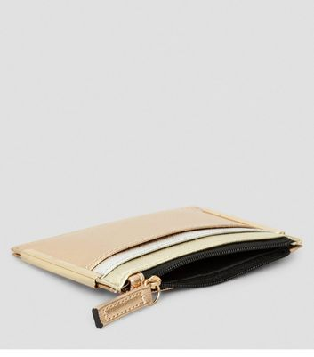 Gold Metallic Cardholder New Look