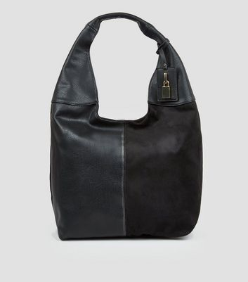 Black Oversized Hobo Bag New Look