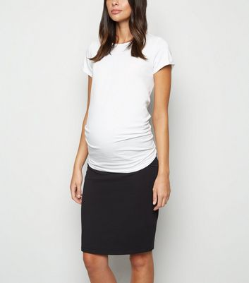 Maternity Black Jersey Midi Tube Skirt