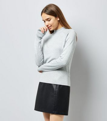 Grey High Neck Jumper New Look