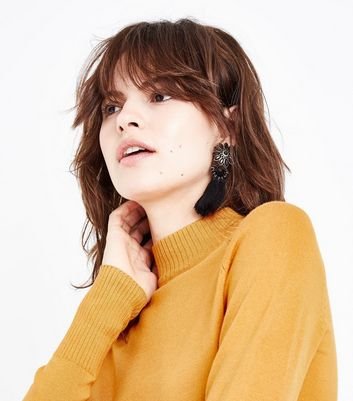 Mustard Yellow Funnel Neck Jumper New Look
