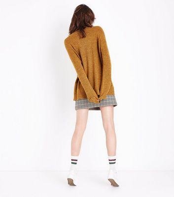 Mustard Yellow Textured Longline Jumper New Look