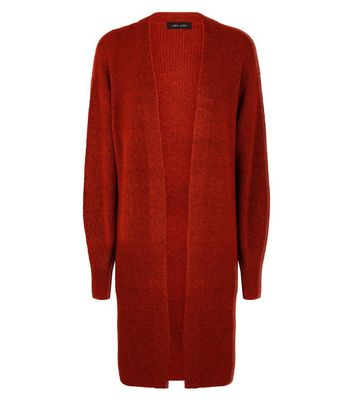 Red Balloon Sleeve Cardigan New Look