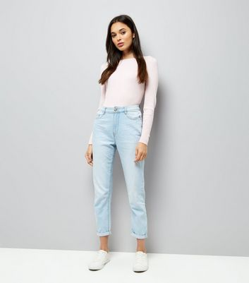 Shell Pink Ribbed Jumper New Look