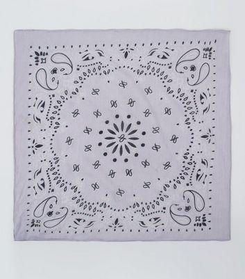 Lilac Paisley Print Bandana New Look