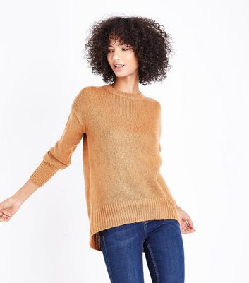 Tan Longline Jumper New Look
