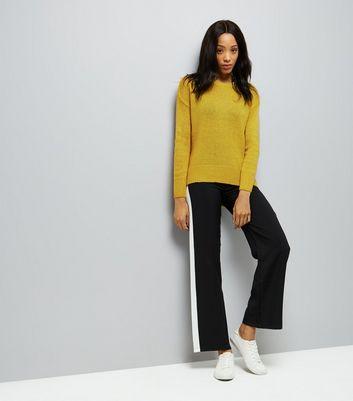 Green Longline Fine Knit Jumper New Look