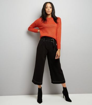 Orange Longline Jumper New Look