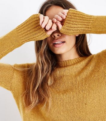Mustard Yellow Longline Jumper New Look