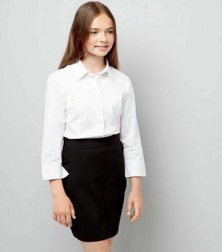 13aceac8f2 Girls Black High Waist Skirt | New Look